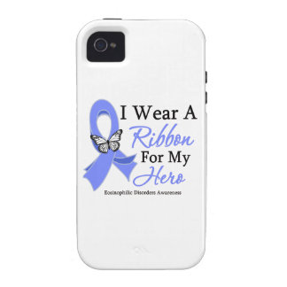 Eosinophilic Disorders I Wear a Ribbon For My Hero Vibe iPhone 4 Cover