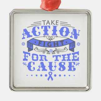 Eosinophilic Disorders Take Action Fight For Cause Square Metal Christmas Ornament