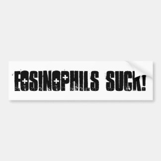 Eosinophils Suck! Car Bumper Sticker