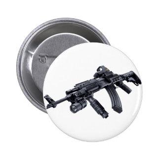EOTech Sighted Tactical AK-47 Assault Rifle Pinback Button