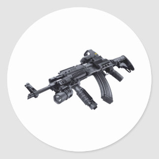 EOTech Sighted Tactical AK-47 Assault Rifle Sticke Classic Round Sticker