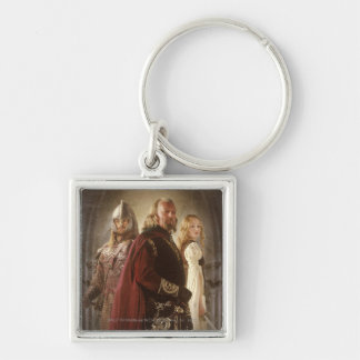 Eowyn and Theoden Silver-Colored Square Keychain