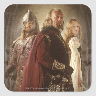 Eowyn and Theoden Square Sticker