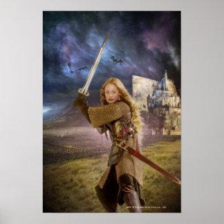 Eowyn aumenta la espada póster