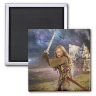 Eowyn Raises Sword Magnets