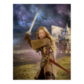 Eowyn Raises Sword Postcard