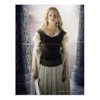 Eowyn with sword postcard