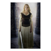 Eowyn with sword poster