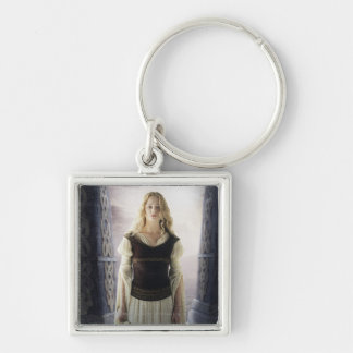 Eowyn with sword Silver-Colored square keychain