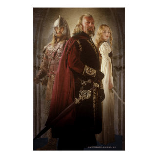 Eowyn y Theoden Póster