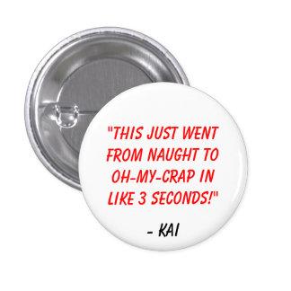 Ep 1 de LECHUGA ROMANA - botón de la cita de Kai Pin Redondo De 1 Pulgada