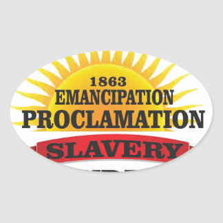 ep ended slavery oval sticker