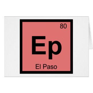 Ep - Símbolo de la tabla periódica de la química d Tarjeton