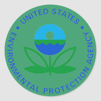 EPA ENVIRONMENTAL PROTECTION AGENCY CLASSIC ROUND STICKER