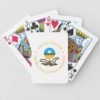 EPA: Extra Pollution Agency (logo) Bicycle Playing Cards