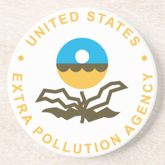 EPA: Extra Pollution Agency (logo) Drink Coaster