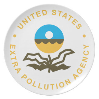 EPA: Extra Pollution Agency (logo) Melamine Plate