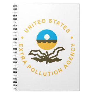 EPA: Extra Pollution Agency (logo) Spiral Notebooks