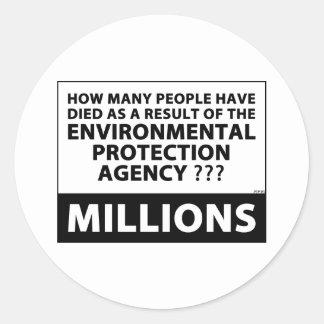 EPA Kills Millions Classic Round Sticker