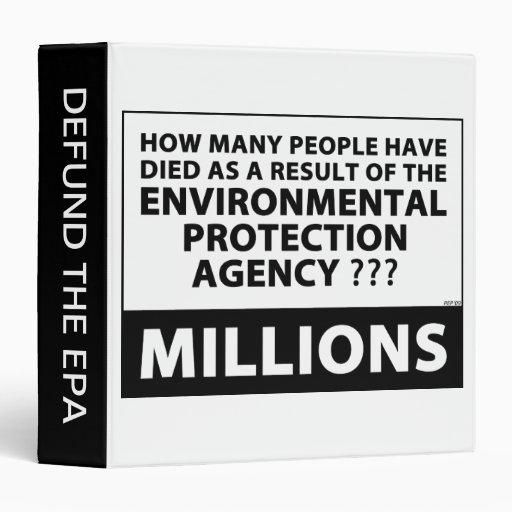 "EPA mata a millones Carpeta 1 1/2"""
