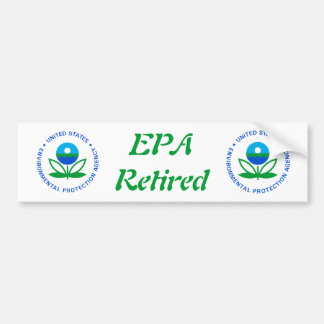 EPA Retired Bumper Sticker