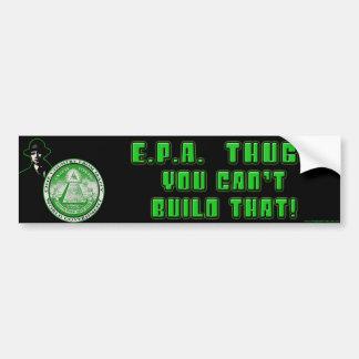 EPA - You Can't Build That Bumper Sticker