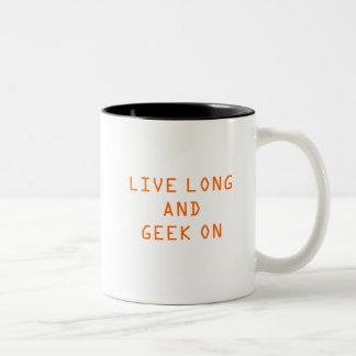 Epbot: Live Long and Geek On! Coffee Mugs