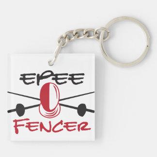 Epee Fencer Keychain