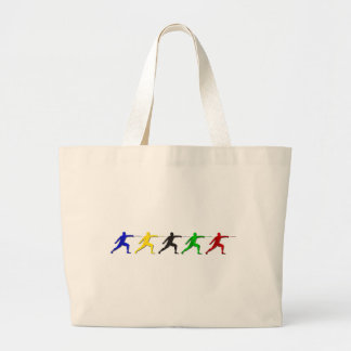 Epee Fencers Fencing Mens Athlete Womens Sports Large Tote Bag