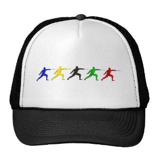 Epee Fencers Fencing Mens Athlete Womens Sports Trucker Hat