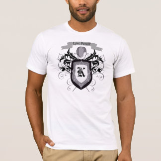 Epee Fencing Crest White Men's T-Shirt