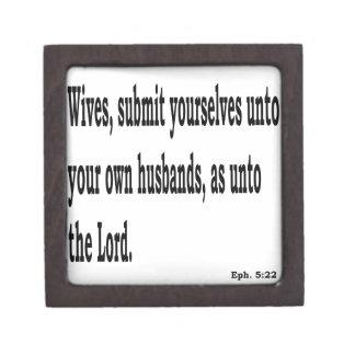 Eph. 5:22 jewelry box