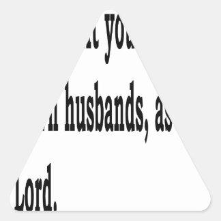 Eph. 5:22 triangle sticker