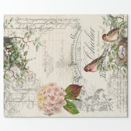 Ephemera Bird Decoupage 60lb paper