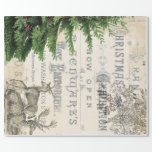 """Ephemera Christmas Wrapping Paper<br><div class=""""desc"""">This vintage Ephemera Christmas Wrapping Paper is per for large scale decoupage projects,  or wrapping gifts.</div>"""