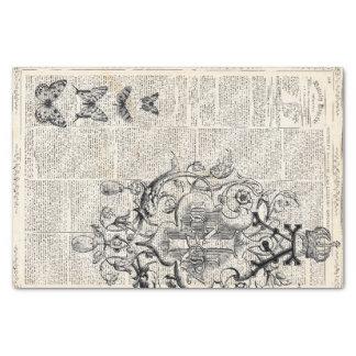 "Ephemera Decoupage Sheet 10"" X 15"" Tissue Paper"