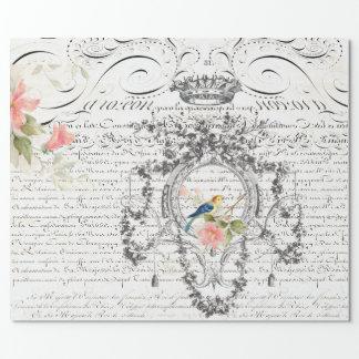 Ephemera Script Wrapping Paper