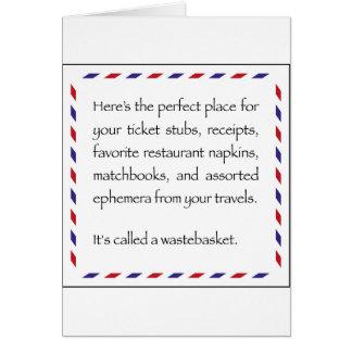ephemera tip card