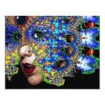 EPHEMERAL halloween masquerade ball, blue mask Card
