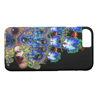 EPHEMERAL Lady With Fractal Mask Black Blue iPhone 8/7 Case