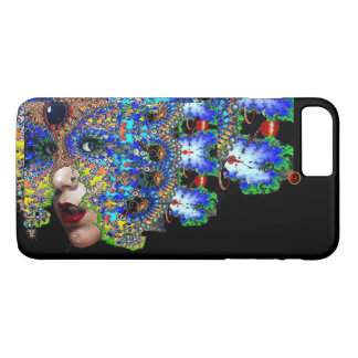 EPHEMERAL Lady With Fractal Mask Black Blue iPhone 8 Plus/7 Plus Case