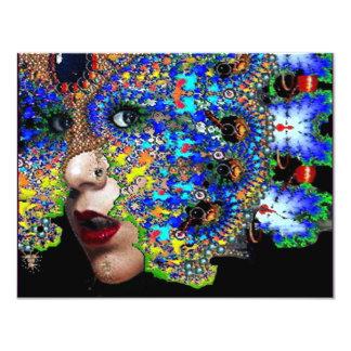 EPHEMERAL  Mardi Gras Masquerade Ball fuchsia blue Personalized Invite