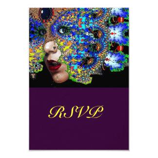 EPHEMERAL Mardi Gras  Masquerade Ball Rsvp Card