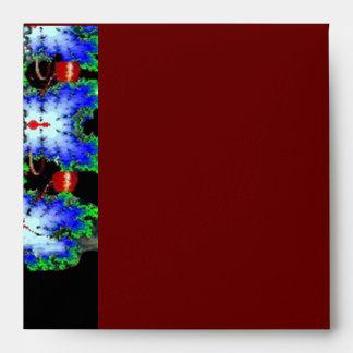 EPHEMERAL MONOGRAM black blue red ruby Envelope