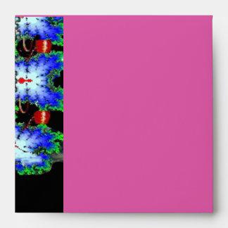 EPHEMERAL MONOGRAM black pink blue red ruby Envelopes