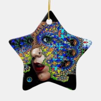 EPHEMERAL , Red Ruby , Blue Sapphire Star Ornament