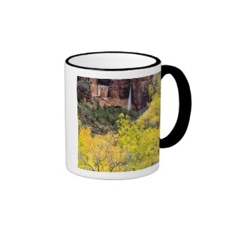 Ephemeral waterfall pours out of slot in cliff 2 ringer mug