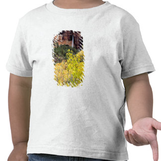 Ephemeral waterfall pours out of slot in cliff 2 tshirt