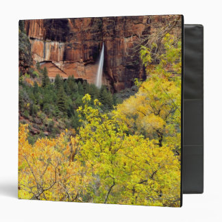 Ephemeral waterfall pours out of slot in cliff 3 ring binder