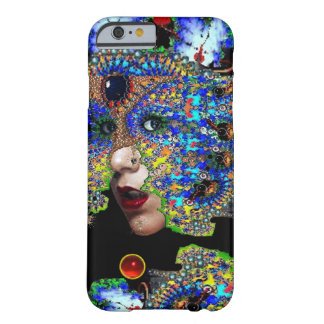 EPHEMERAL/ WOMAN WITH COLORFUL FRACTAL MASK BARELY THERE iPhone 6 CASE